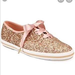 Keds by Kate spade pink glitter sneakers